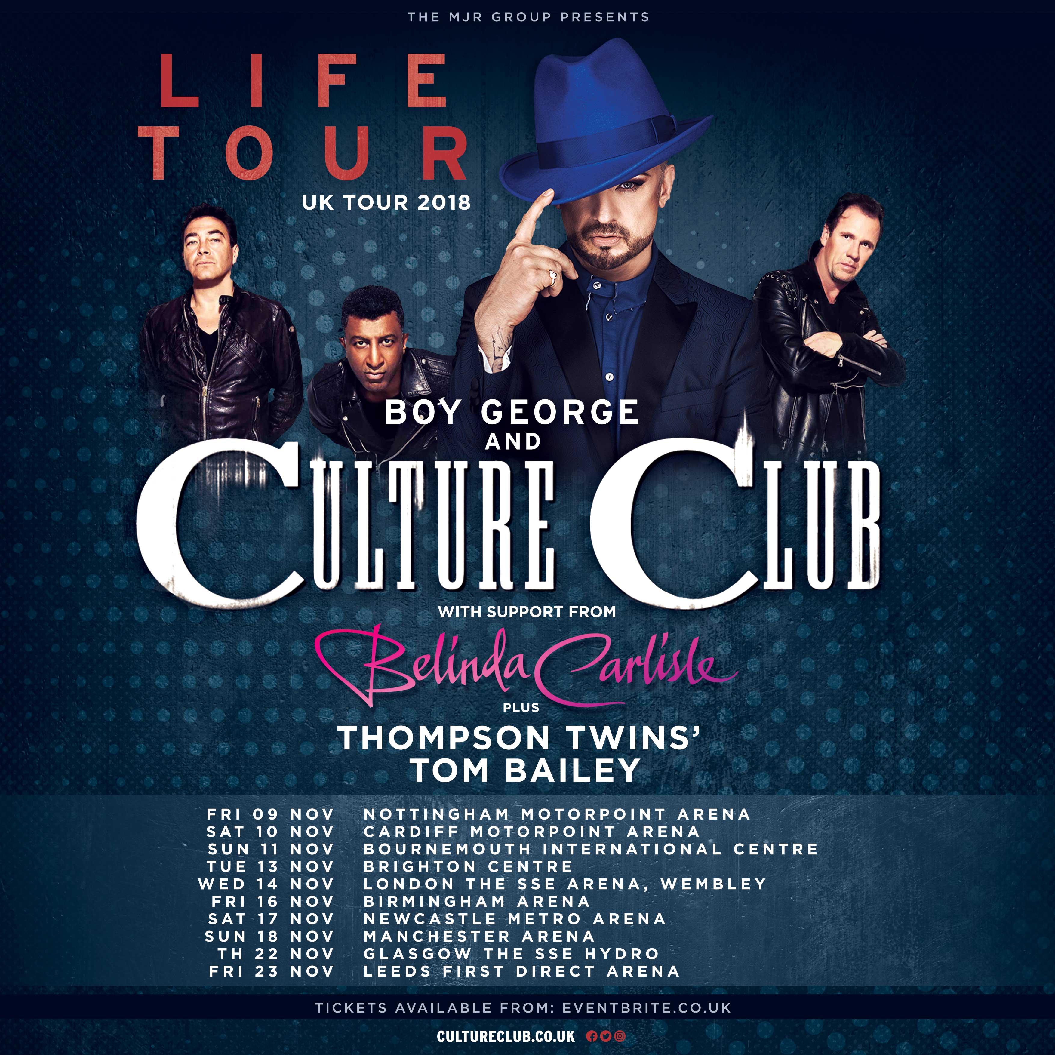Boy George & Culture Club, Belinda Carlisle and UK Tour!