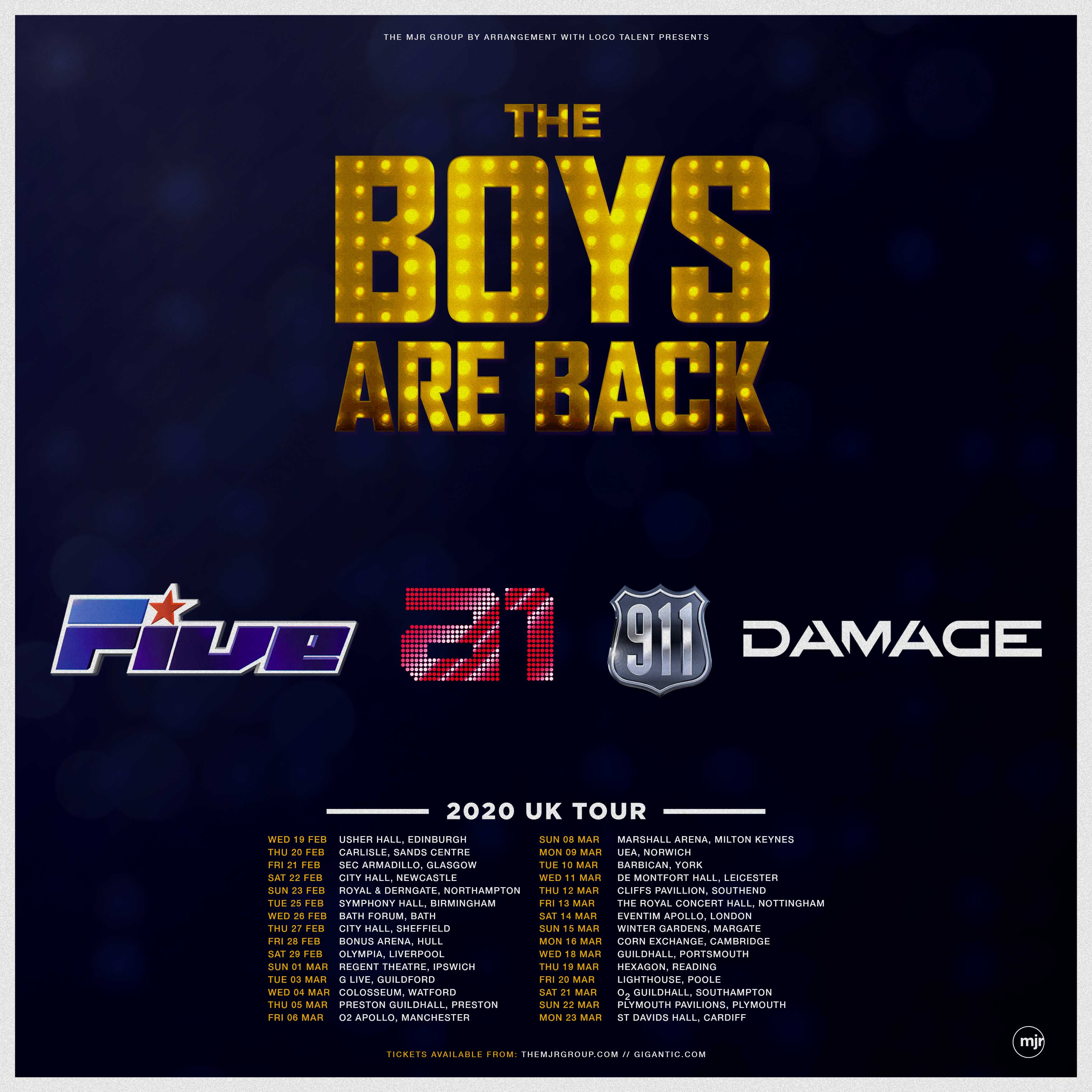 The Boys Are Back! UK Tour announced!