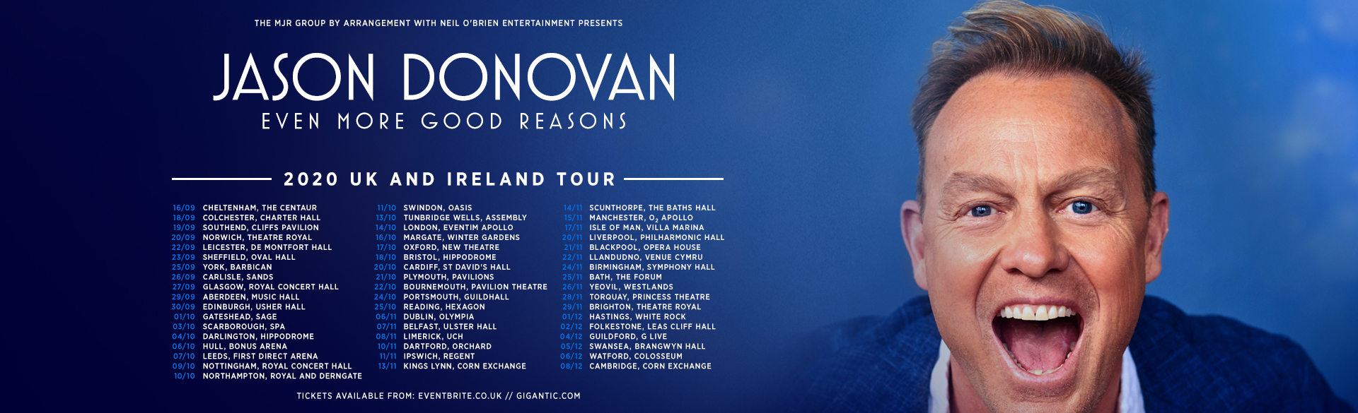 Just Announced: Jason Donovan 'Even More Good Reasons' UK & Ireland Tour!